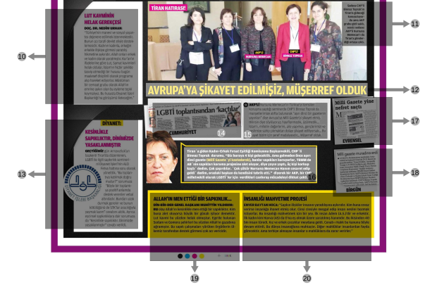 Milli Gazete Cover Page, 25 November 2014. Part 2. Annotated. Click for full size.