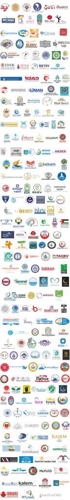 Logos of the organizations allegedly in support of the above statement